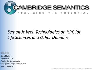 Semantic Web Technologies on HPC for Life Sciences and Other Domains