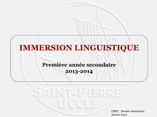 Dossier immersion   f�vrier 2010