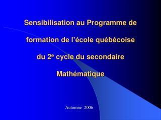 Automne  2006