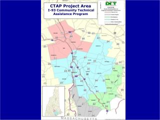 CTAP Project Area  I-93 Community Technical Assistance Program