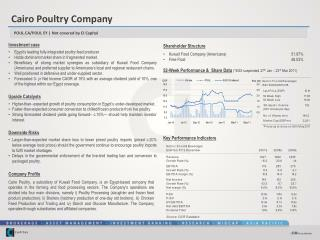 Investment case Egypt's leading fully-integrated poultry feed producer.