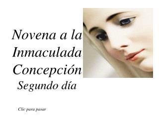 Novena a la Inmaculada Concepción Segundo día