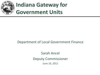 Indiana Gateway for Government Units