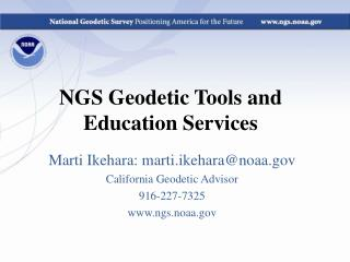 NGS Geodetic Tools and Education Services