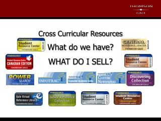 Cross Curricular Resources What do we have? WHAT DO I SELL?