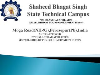Shaheed Bhagat  Singh State Technical Campus