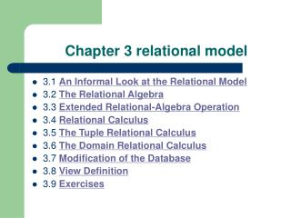Chapter 3 relational model
