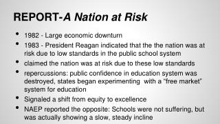 REPORT- A Nation at Risk