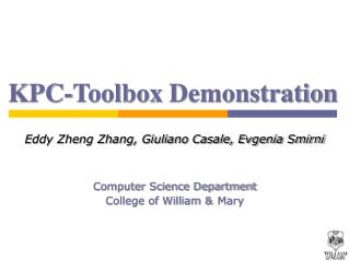 KPC-Toolbox Demonstration