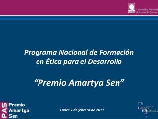 """Premio Amartya Sen"""