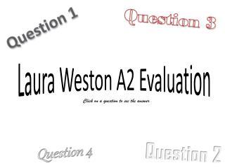 Laura Weston A2 Evaluation