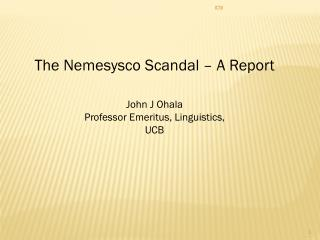 The Nemesysco Scandal – A Report
