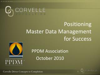 Positioning Master Data Management for Success