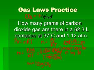 Gas Laws Practice