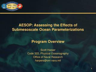 AESOP: Assessing the Effects of Submesoscale Ocean Parameterizations