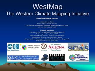 WestMap The Western Climate Mapping Initiative