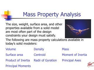 Mass Property Analysis
