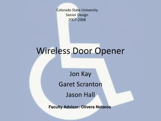 Wireless Door Opener
