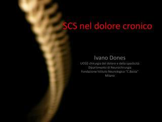 SCS nel dolore cronico