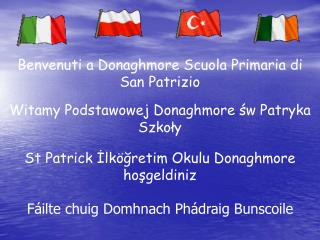 Benvenuti a Donaghmore Scuola Primaria di San Patrizio