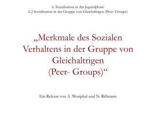 Ein Referat von A. Westphal und N. Rißmann