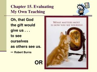 Chapter 15. Evaluating My Own Teaching