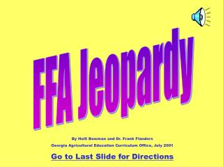 FFA Jeopardy