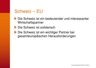 Schweiz – EU