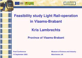 Final Conference 15 September 2005