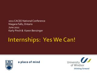 Internships:  Yes We Can!