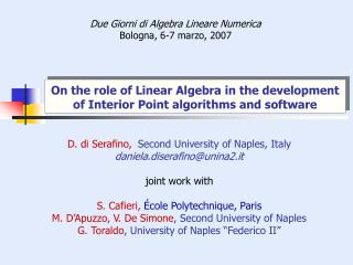 On the role of Linear Algebra in the development of Interior Point algorithms and software