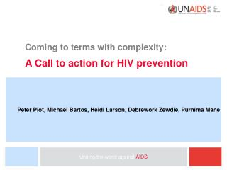 Coming to terms with complexity: A Call to action for HIV prevention