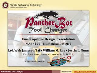 Final Capstone Design Presentation MAE  4194 – Mechanical Design 2