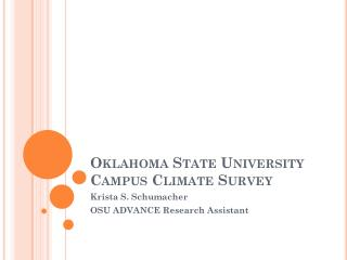 Oklahoma State University Campus Climate Survey