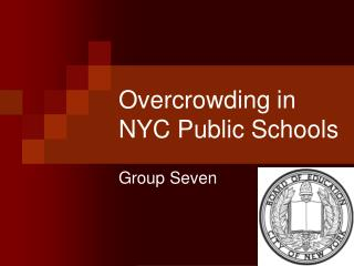 Overcrowding in NYC Public Schools