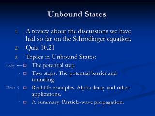 Unbound States