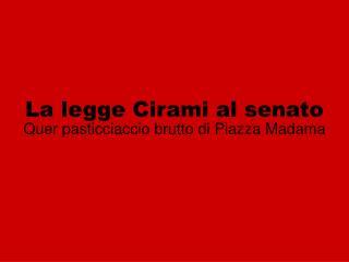La legge Cirami al senato