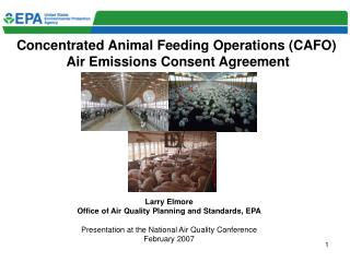 Concentrated Animal Feeding Operations (CAFO)  Air Emissions Consent Agreement