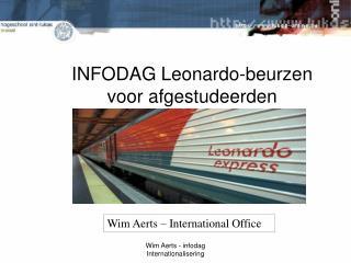 INFODAG Leonardo-beurzen voor afgestudeerden  februari 2010