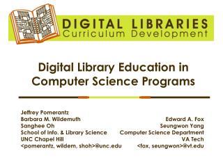 Digital Library Education in Computer Science Programs