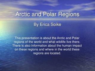 Arctic and Polar Regions