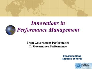 Innovations in  Performance Management