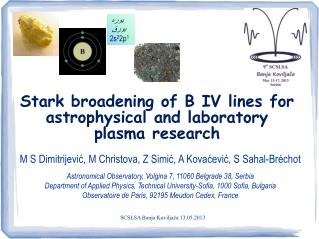 Stark broadening of B IV lines  for astrophysical and laboratory  plasma research
