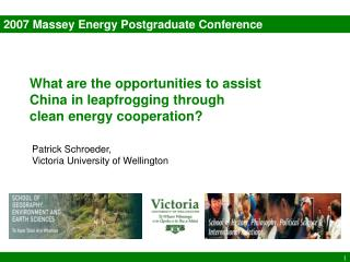 2007 Massey Energy Postgraduate Conference