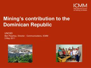 Mining's contribution to the Dominican Republic
