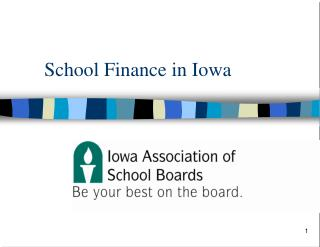 School Finance in Iowa