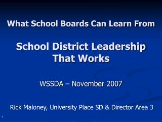 What School Boards Can Learn From School District Leadership  That Works