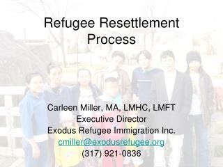 Refugee Resettlement Process