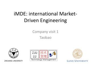 iMDE : international Market-Driven  Engineering