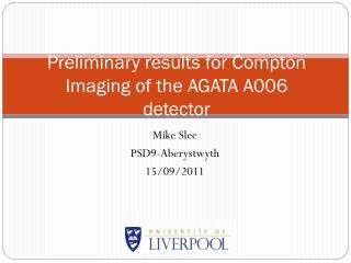 Preliminary results for  Compton  Imaging  of the AGATA A006 detector